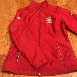 Women's Red PGA waterproof jacket